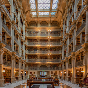 Peabody Library by Dale Youngkin - Buildings & Architecture Public & Historical ( historic, library, architectural detail, peabody library, architecture )