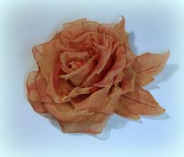 "Photo: Роза из итальянского шифона ""Хамелеон"""