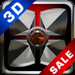 Next Launcher theme 3d Orange Diamond Icon