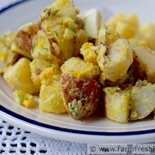 Chive Blossom Potato Salad with Egg