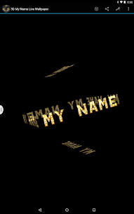 3D My Name Live Wallpaper Apk Latest Version Download For Android 8
