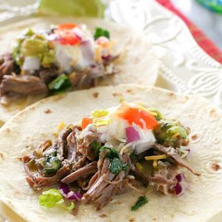 Salsa Verde Beef Tacos