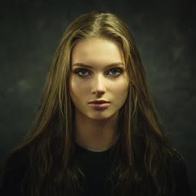 Portrait of Aleksandra by Dmitry Baev - People Portraits of Women ( studio, beautiful, woman, portrait, eyes )