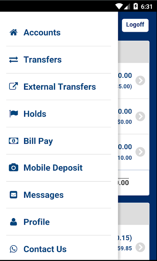 Space Age FCU Mobile Banking- screenshot