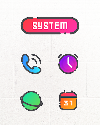 Download GRADION - Icon Pack MOD APK 2