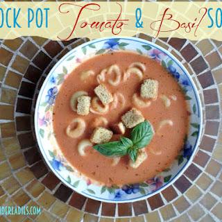 Crock Pot Tomato Basil Soup with Tortellini Recipe!