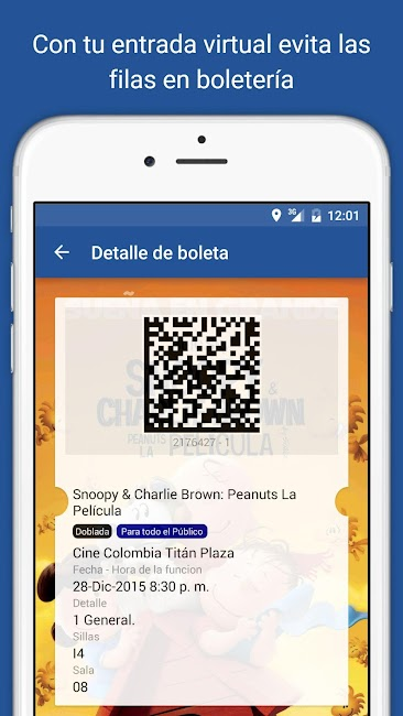 #1. Cine Colombia S.A. (Android)
