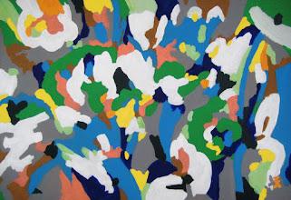 """Photo: Тадеуш Жаховский """"Дружба это радость. Friendship is a joy"""" (вариация 2, variation 2) Title: from Friendship is a Joy series (2) / из серии Дружба это радость (2), 100x145 Artist:Tadeush Zhakhovskyy / Тадеуш Жаховский Medium: Acrylic on Canvas/ Холст, Акрил In private collection. О наличии картины просьба контактировать галерею.Также предлагается напечатанная на холсте репродукция этой картины в любом размере."""