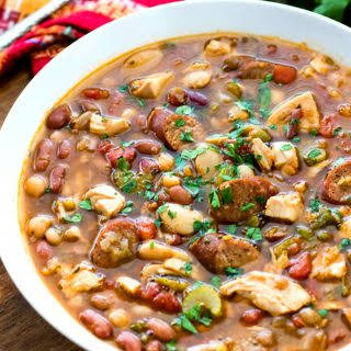 Cajun 15 Bean Soup with Turkey and Andouille Sausage.