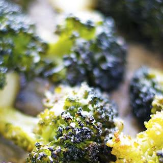 Parmesan Lemon Crispy Broccoli.
