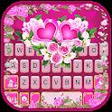Pink Rose Flower Keyboard Theme icon