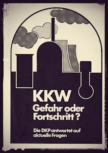 Titel der Broschüre der DKP: «KKW. Gefahr oder Fortschritt?»