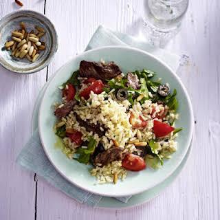 Arugula, Tomato and Rice salad.