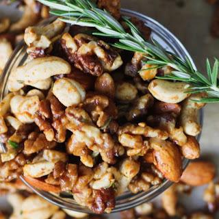 Spiced Maple Rosemary Paleo Mixed Nuts.