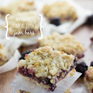 Simple Oatmeal Cookie Jam Bars
