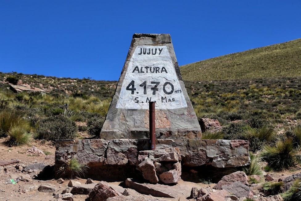 Droga z Purmamarca do Salinas Grandes - 4170mnpm, choroba wysokościowa