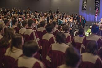 Photo: Eureka College Chorale singing the Alma Mater