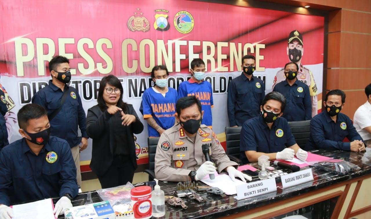 Pengedar Shabu Bersenjata Api Asal Jombang Ditangkap Ditresnarkoba Polda Jatim