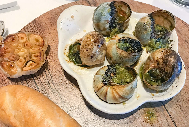 Escargot served at specialty restaurant Sur la Mer aboard ms Oosterdam.