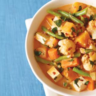 Red Curry with Califlower and Squash