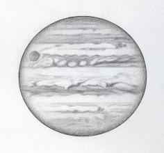 Photo: Jupiter le 7 avril 2016, entre 20h30 TU (partie haute du dessin) et 21h20 (partie basse). T406 à 350X en bino. Seeing correct, voire bon par moments.