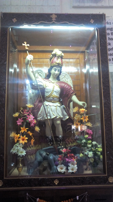 St.Michael the Archangel statue at Mahim Church