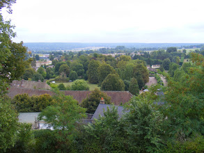 Photo: From the top of the hill is a nice view of the surrounding countryside.