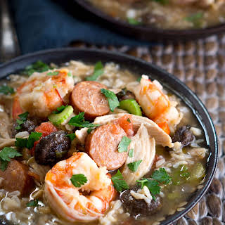 Chicken Shrimp and Sausage Gumbo.