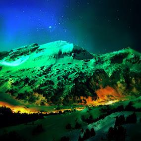 Night by Kaja Radošević - Digital Art Places