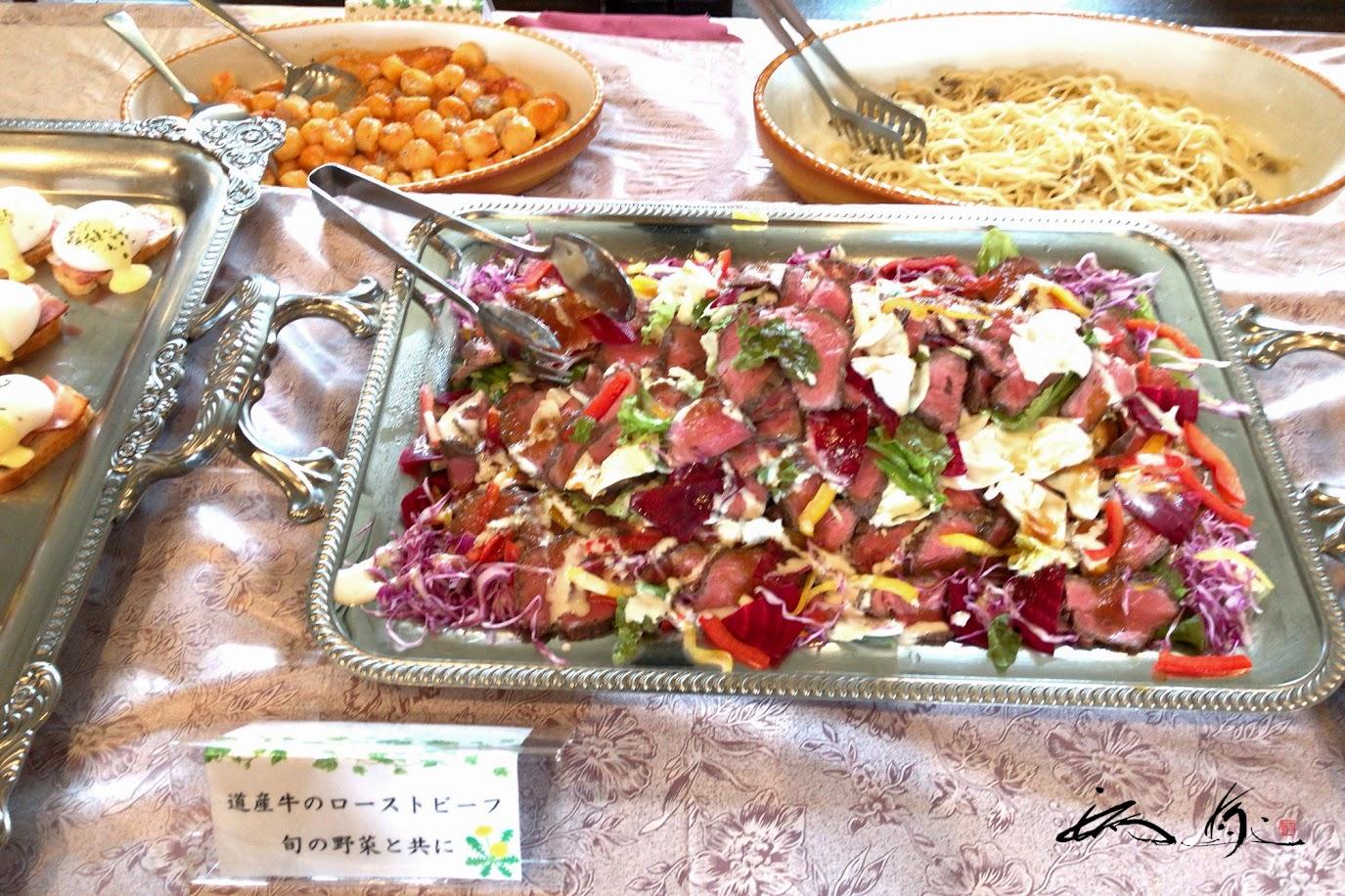 道産牛のローストビーフ 旬の野菜と共に