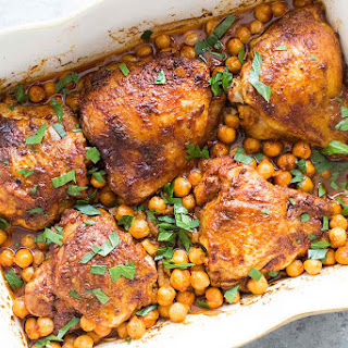 Paprika Chicken with Chickpeas.