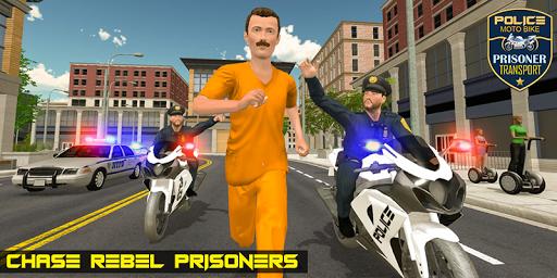 Police Moto Bike Prisoner Transport 3D screenshots 3
