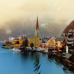 Hallstatt by Arda Erlik - City,  Street & Park  Historic Districts ( travel, architecture, hallstatt, austria )