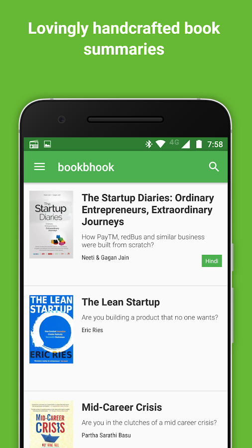 bookbhook book summary reading app- screenshot