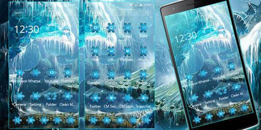 Theme Ice Frozen Snow Castle Screenshot
