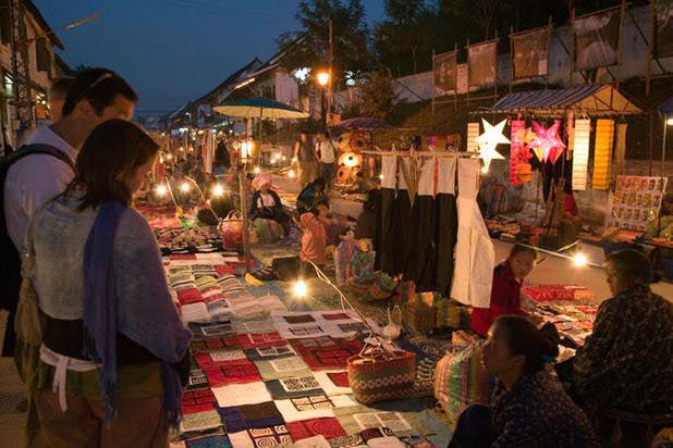 Le marché ethnique de Luang Prabang