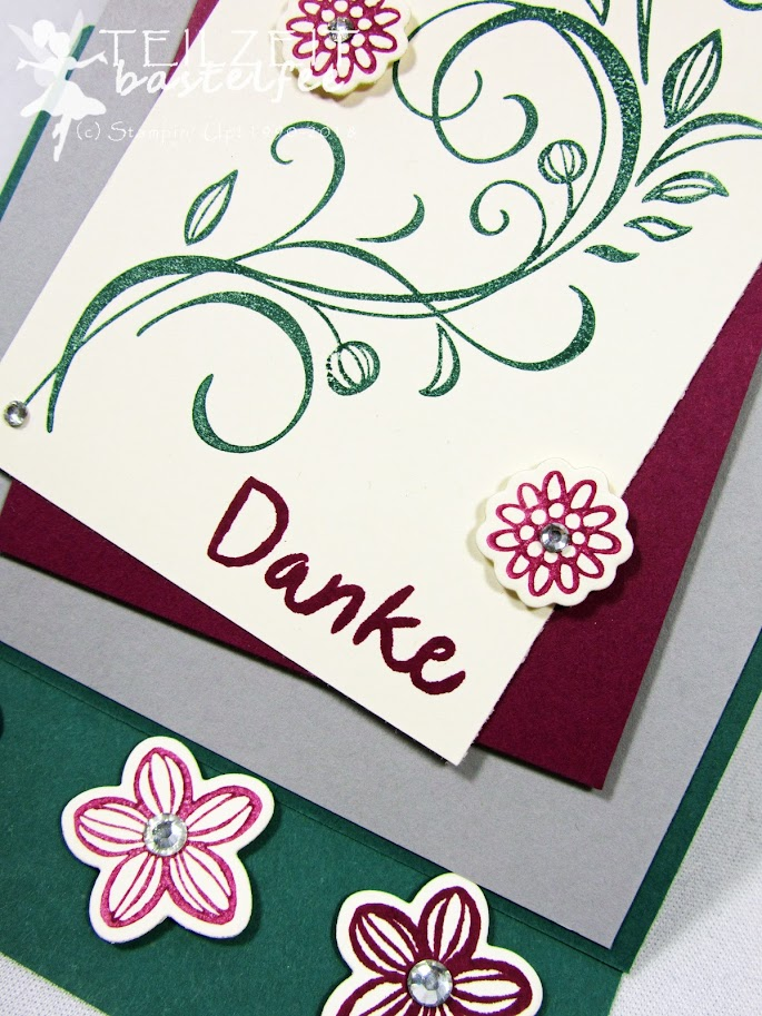 Stampin' Up! - Inkspire_me, Falling Flowers, May Flowers Framelits, Thankful Thoughts, Zum Dank