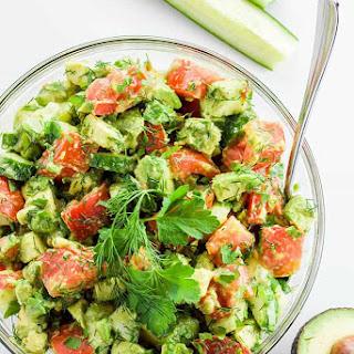 Cucumber Tomato Avocado Salad (Paleo, Low Carb).