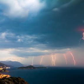 Dubrovnik thunderstorm by Daniel Pavlinović - Landscapes Weather ( lightning, thunderstorm, dubrovnik, croatia, gale, cumulonimbus, storm )