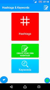 Hashtags & Keywords - náhled