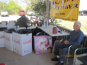 Photo: Gary McCoy with the Toys for Tots.    HALS 2012-1117  David Hannah