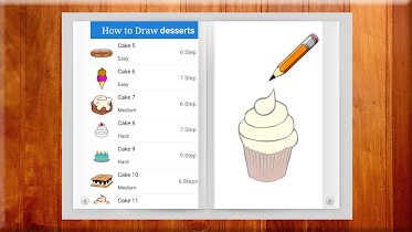 Learn to Draw Desserts - screenshot thumbnail 01