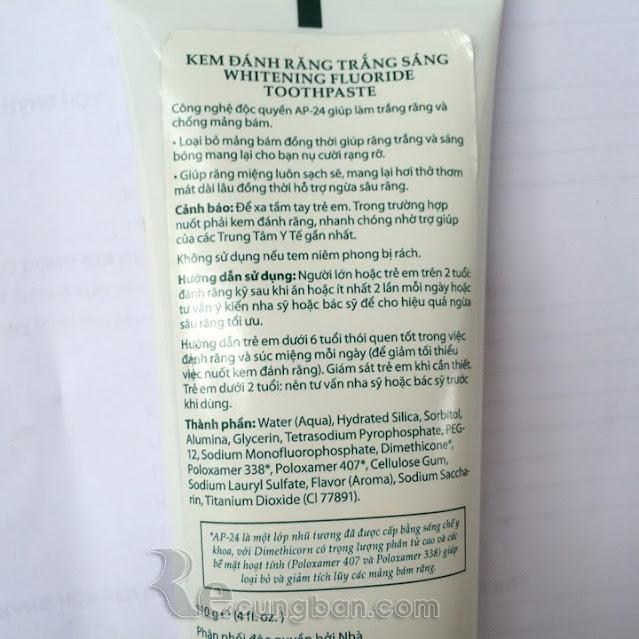 Kem đánh răng trắng sáng Ap24 whiteing flouride toothpaste Nuskin Mỹ