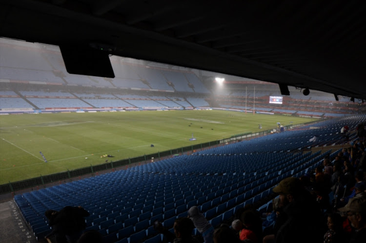 Rain during the Currie Cup match between Vodacom Blue Bulls and DHL Western Province at Loftus Versfeld on October 13, 2018 in Pretoria, South Africa.