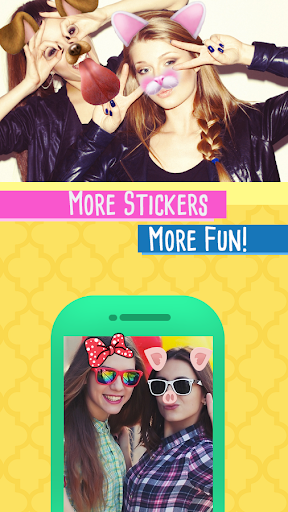 Snap Doggy Face Stickers