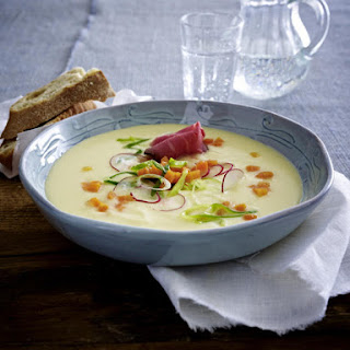 Potato and Horseradish Soup with Roast Beef