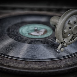 Music In My Ears by Marco Bertamé - Artistic Objects Other Objects ( lp, gramophone, music, round, turning, vintage, record, gramophone needle, disc, circle, vinyl, phonograph, sound machine,  )