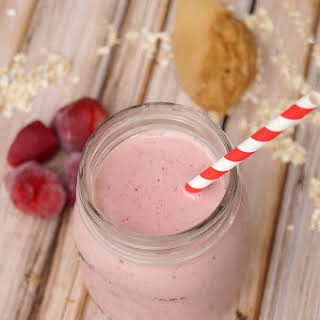 Peanut Butter and Jelly Protein Smoothie.