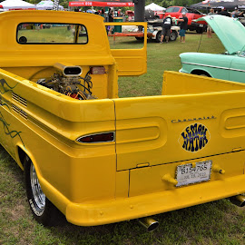 Lemonator by Benito Flores Jr - Transportation Automobiles ( cars, truck, yellow, temple, car show, texas, people )