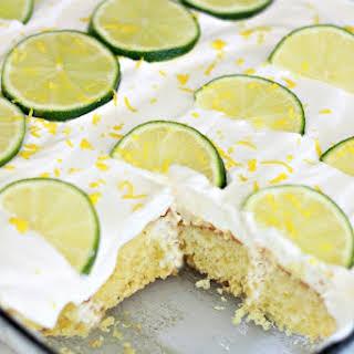 Margarita Poke Cake.